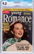 Golden Age (1938-1955):Romance, Young Romance Comics #17 (Prize, 1950) CGC VF/NM 9.0 Cream tooff-white pages....
