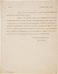 Autographs:U.S. Presidents, James Madison Autograph Letter Signed With Integral Address Cover in His Hand. ...