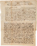 Autographs:U.S. Presidents, John Quincy Adams Writ Engrossed Entirely in His Hand and Signed onthe Verso. ...