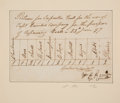 Autographs:U.S. Presidents, William Henry Harrison Manuscript Document Signed. ...