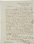 Autographs:U.S. Presidents, John Tyler Autograph Letter Signed with a Second Franking Signature. ...
