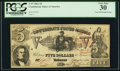 Confederate Notes:1861 Issues, T37 $5 1861 PF-2 Cr. 285 Trans-Mississippi Stamp.. ...