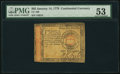 Colonial Notes:Continental Congress Issues, Continental Currency January 14, 1779 $65 PMG About Uncirculated 53.. ...