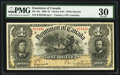 Canadian Currency, DC-13a $1 1898. ...