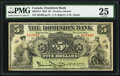 Canadian Currency, Toronto, ON- The Dominion Bank $5 Jan. 2, 1925 Ch. # 220-16-14. ...