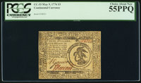 Continental Currency May 9, 1776 $3 PCGS Choice About New 55PPQ