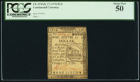 Continental Currency February 17, 1776 $1/6 PCGS About New 50