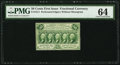 Fr. 1311 50¢ First Issue PMG Choice Uncirculated 64