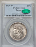 Commemorative Silver, 1938-D 50C Boone MS66 PCGS. CAC. PCGS Population: (191/81). NGC Census: (126/34). CDN: $600 Whsle. Bid for problem-free NGC...