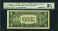 Error Notes:Major Errors, Fr. 2300 $1 1935A Hawaii Silver Certificate. PMG Choice Very Fine35.. ...