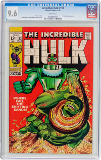 The Incredible Hulk #113 (Marvel, 1969) CGC NM+ 9.6 White pages