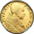 Vatican City, Pius XII gold 100 Lire 1952 Anno XIV MS64 NGC, KM5...