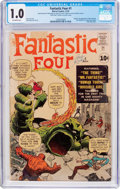 Silver Age (1956-1969):Superhero, Fantastic Four #1 (Marvel, 1961) CGC FR 1.0 Off-white pages....