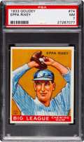 Baseball Cards:Singles (1930-1939), 1933 Goudey Eppa Rixey #74 PSA NM 7....