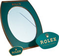 Timepieces:Other , Two Rolex Displays & Large Rolex Counter Mirror. ... (Total: 3Items)