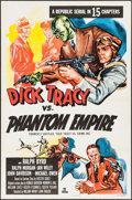 "Movie Posters:Serial, Dick Tracy vs. Crime Inc. (Republic, R-1952). One Sheet (27"" X 41""). Reissue Title: Dick Tracy vs. The Phantom Empire. S..."