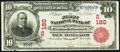 National Bank Notes:West Virginia, Parkersburg, WV - $10 1902 Red Seal Fr. 613 The First NB Ch. #(S)180. ...