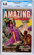 Golden Age (1938-1955):Science Fiction, Amazing Adventures #1 (Ziff-Davis, 1950) CGC VG 4.0 Off-white towhite pages....