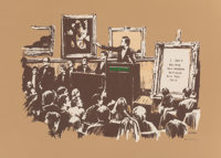 Banksy (b. 1974) Morons (Sepia), 2007 Screenprint in colors on wove paper, with full margins 20-1