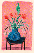 Prints & Multiples, David Hockney (b. 1937). Amaryllis in Vase, from Moving Focus, 1984. Lithograph in colors on TGL handmade paper, wit...