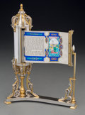 Silver Holloware, Continental, A Yossi Swed Partial Gilt Silver Megillah Esther, 20th century.Marks: (S over D monogram), (D butterfly S), ISR...
