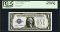 Small Size:Silver Certificates, Fr. 1600* $1 1928 Silver Certificate. PCGS Superb Gem New 67PPQ.. ...