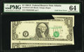 Error Notes:Major Errors, Fr. 1912-F $1 1981A Federal Reserve Note. PMG Choice Uncirculated64.. ...