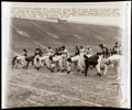 Football Collectibles:Photos, 1962 NFL Championship Game Green Bay Packers Warm Ups Original Wire Photograph....