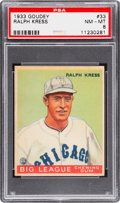 Baseball Cards:Singles (1930-1939), 1933 Goudey Ralph Kress #33 PSA NM-MT 8 - Very Rare for Grade....