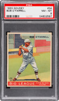 Baseball Cards:Singles (1930-1939), 1933 Goudey Bob O'Farrell #34 PSA NM-MT 8 - None Higher....