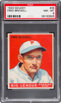 Baseball Cards:Singles (1930-1939), 1933 Goudey Fred Brickell #38 PSA NM-MT 8 - Only One Higher....