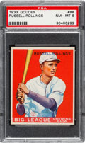Baseball Cards:Singles (1930-1939), 1933 Goudey Russell Rollings #88 PSA NM-MT 8 - Only One Higher....