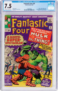 Silver Age (1956-1969):Superhero, Fantastic Four #25 (Marvel, 1964) CGC VF- 7.5 Off-white to white pages....