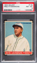 Baseball Cards:Singles (1930-1939), 1933 Goudey Fred Fitzsimmons #130 PSA NM-MT 8 - None Higher....