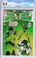 Bronze Age (1970-1979):Superhero, Green Lantern #76 (DC, 1970) CGC VF+ 8.5 Off-white to whitepages....
