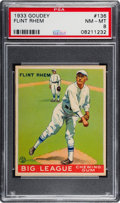Baseball Cards:Singles (1930-1939), 1933 Goudey Flint Rhem #136 PSA NM-MT 8 - None Higher....