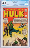Silver Age (1956-1969):Superhero, The Incredible Hulk #3 (Marvel, 1962) CGC VG 4.0 Cream to off-whitepages....