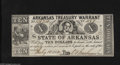 Obsoletes By State:Arkansas, (Little Rock,) AR- State of Arkansas $10 July 18, 1862 This example is on white paper with a green back. About Uncirculat...