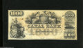 Obsoletes By State:Louisiana, New Orleans, LA- Canal Bank $1000 18__ This is a charming remainder with Prosperity and Liberty depicted at top center. C...