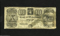 Obsoletes By State:Michigan, Manchester, MI- Bank of Manchester $10 Sep. 10, 1837 This bank only operated for three years. The cut-cancel has been taped...