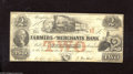 Obsoletes By State:Tennessee, Memphis, TN- Farmers and Merchants Bank $2 May 1, 1854 This antebellum $2 is free of edge tears and pinholes. Fine....