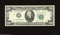 Error Notes:Blank Reverse (<100%), Fr. 2074-F $20 1981A Federal Reserve Note. Very Fine. The backupper left-hand corner is blank on this example. A small marg...