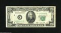 Error Notes:Skewed Reverse Printing, Fr. 2063-F $20 1950D Federal Reserve Note. Extremely Fine-AboutUncirculated. This example has an overly skewed back which ...