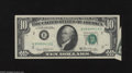 Error Notes:Attached Tabs, Fr. 2020-B $10 1969B Federal Reserve Note. Very Fine. The lowerright-hand corner reveals a tab that has left an unprinted t...
