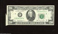 """Error Notes:Attached Tabs, Fr. 2073-E $20 1981 Federal Reserve Note. Extremely Fine. A nice""""butterfly"""" is found on this Richmond $20...."""