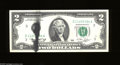 Error Notes:Ink Smears, Fr. 1935-C $2 1976 Federal Reserve Note. Gem Crisp Uncirculated. Anice black ink smear is found on the face of this Bicente...