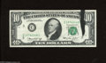 Error Notes:Ink Smears, Fr. 2022-C $10 1974 Federal Reserve Note. Very Fine. A black inksmear is planted on the face of this Philly $10....