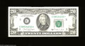 Error Notes:Miscellaneous Errors, Fr. 2076-C $20 1988A Federal Reserve Note. About Uncirculated. The upper suffix letter is partially inked plus it is raised....