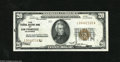 Error Notes:Major Errors, Fr. 1870-L $20 1929 Federal Reserve Bank Note. Very Fine. Here is adramatic error with the logotype fourth printing shifted...