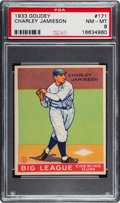 Baseball Cards:Singles (1930-1939), 1933 Goudey Charley Jamieson #171 PSA NM-MT 8 - None Higher....